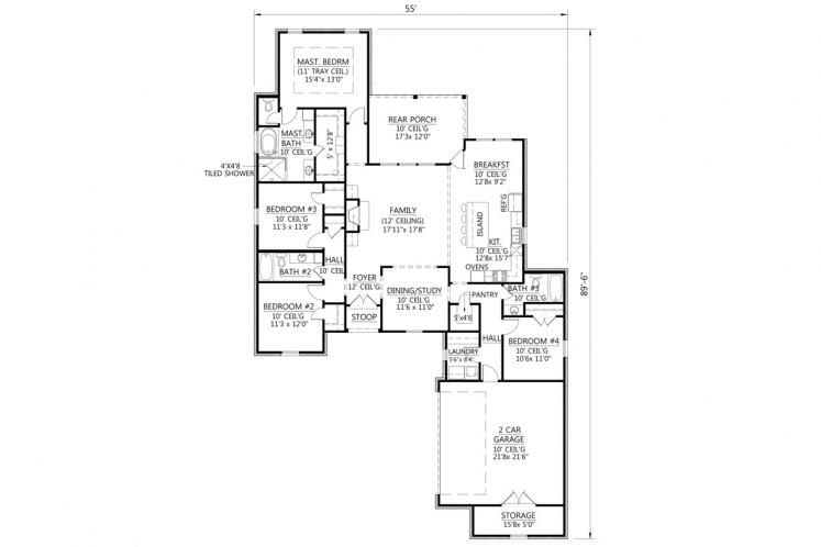 Classic House Plan - Lexington 16922 - 1st Floor Plan