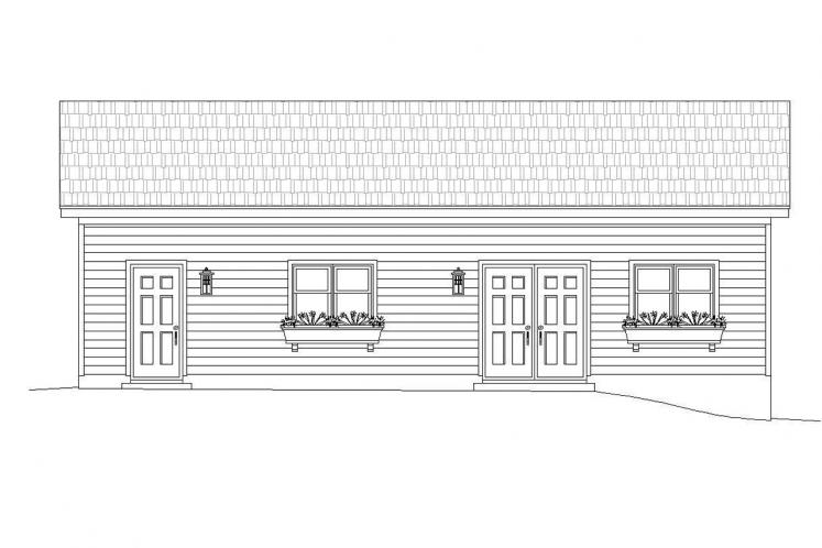 Traditional Garage Plan -  16981 - Left Exterior