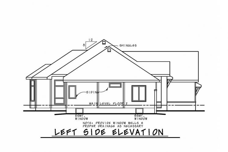 Traditional House Plan - Sinclair Springs 16998 - Left Exterior