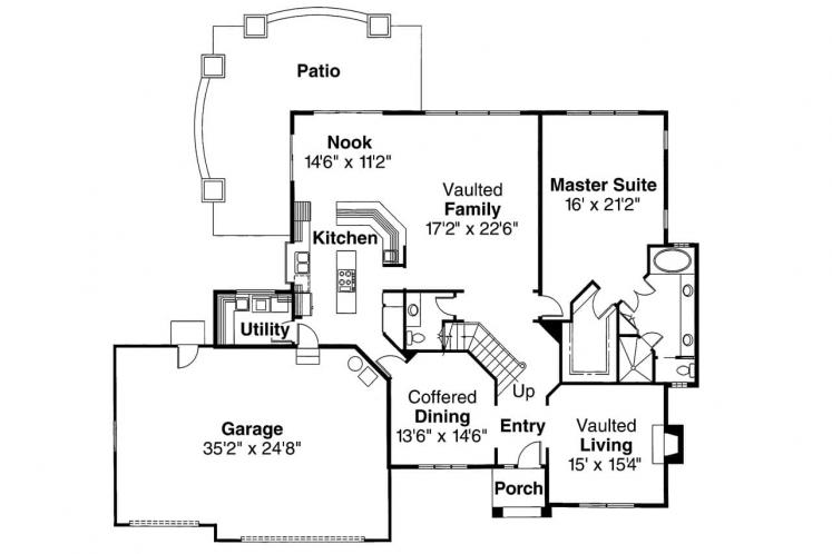 Contemporary House Plan - Manchester 17019 - 1st Floor Plan