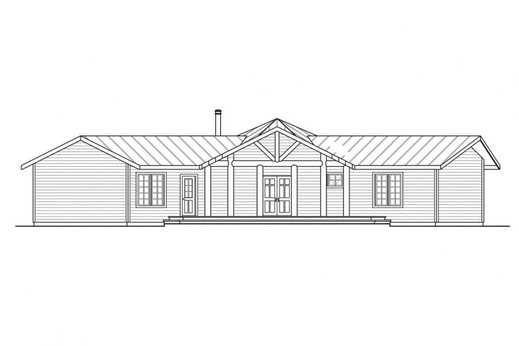 Ranch House Plan - Bismarck 17091 - Front Exterior