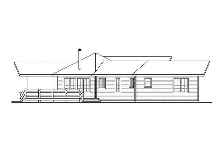Lodge Style House Plan - Bismarck 17091 - Left Exterior