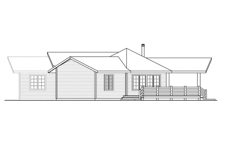 Ranch House Plan - Bismarck 17091 - Right Exterior