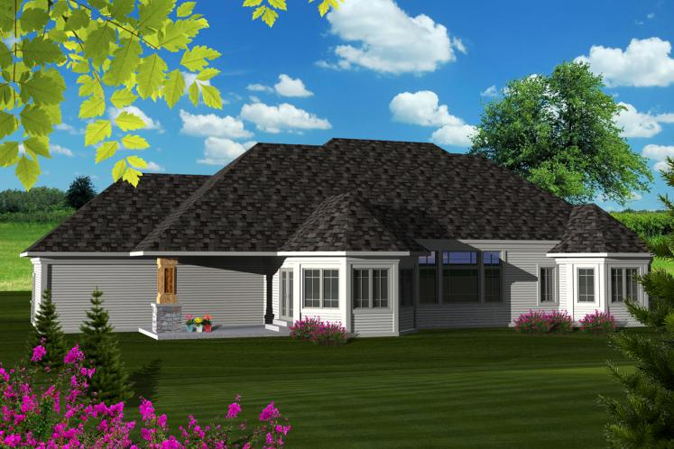 Classic House Plan -  17103 - Rear Exterior