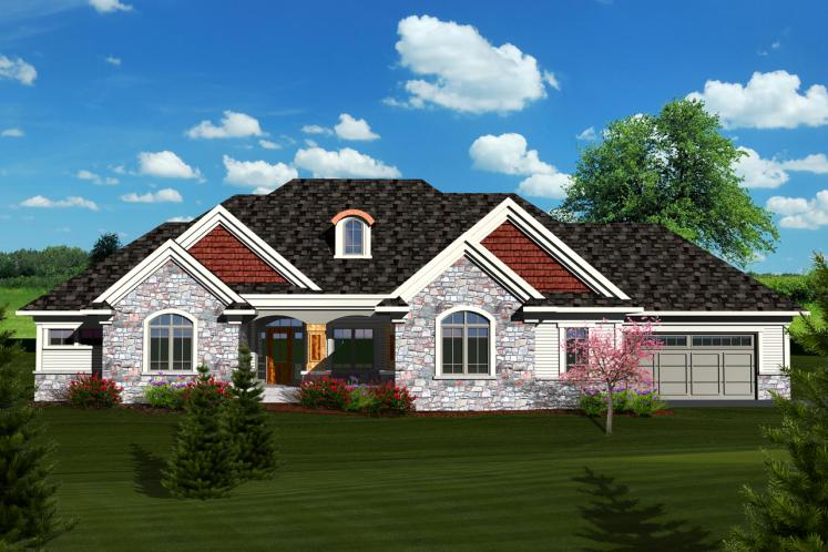 Craftsman House Plan -  17103 - Front Exterior