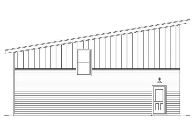 Modern Garage Plan -  17127 - Left Exterior