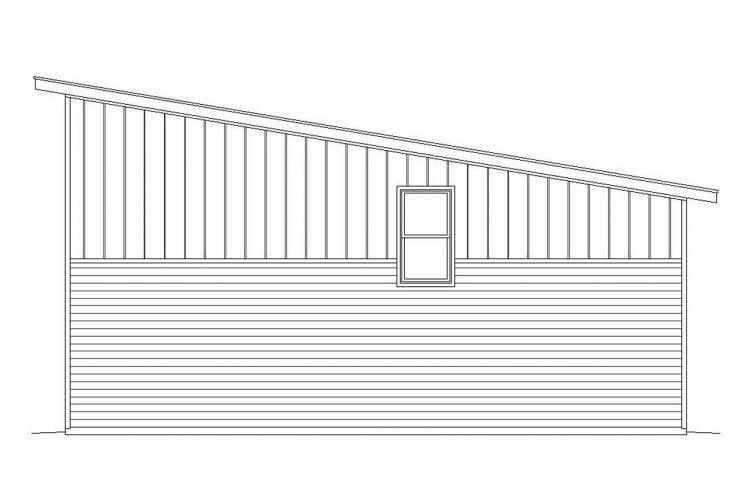 Contemporary Garage Plan -  17127 - Right Exterior