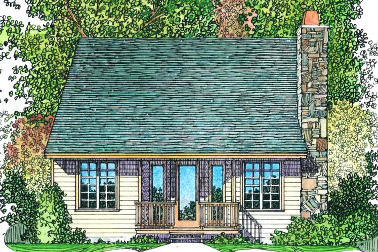 Country House Plan -  17223 - Rear Exterior