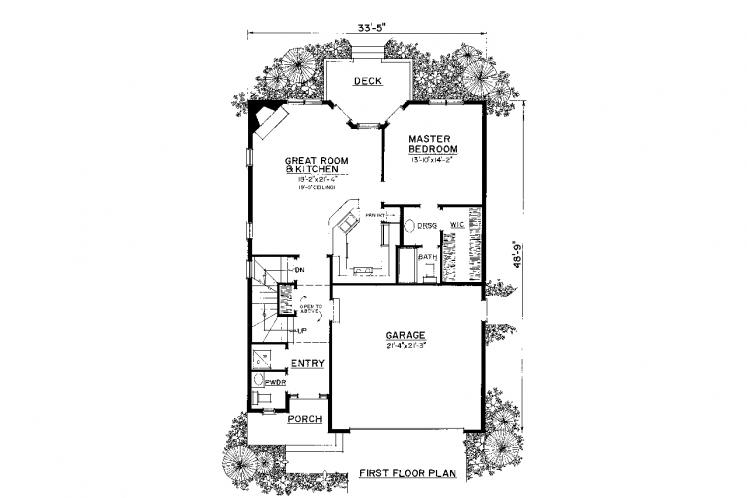 Traditional House Plan -  17223 - 1st Floor Plan