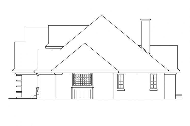 Craftsman House Plan - Hearthside 17238 - Right Exterior