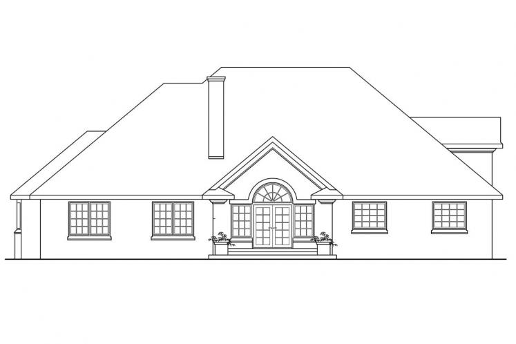 Classic House Plan - Hearthside 17238 - Rear Exterior