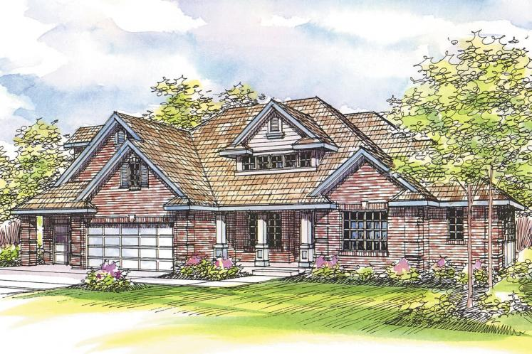 Craftsman House Plan - Hearthside 17238 - Front Exterior