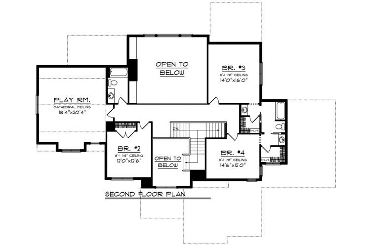 Bungalow House Plan -  17239 - 2nd Floor Plan