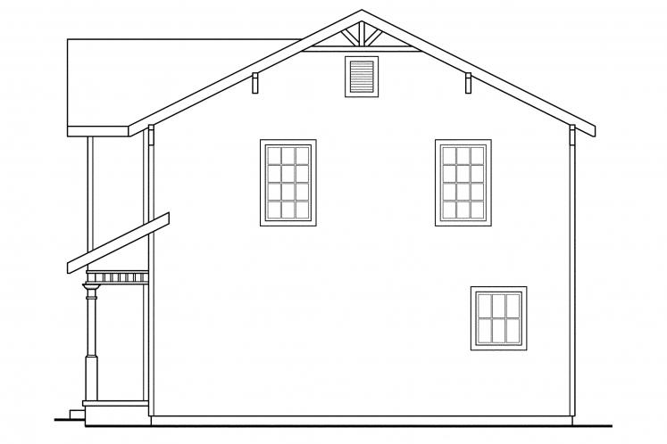 Country House Plan - Emerson 17347 - Right Exterior