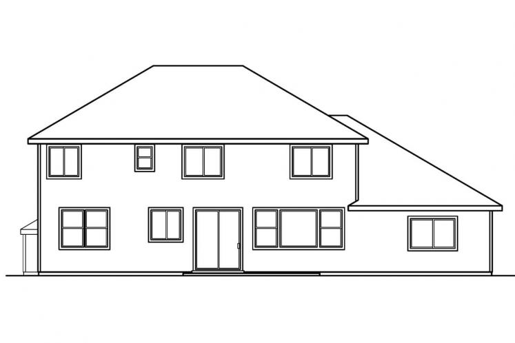 Traditional House Plan - Masterson 17366 - Rear Exterior