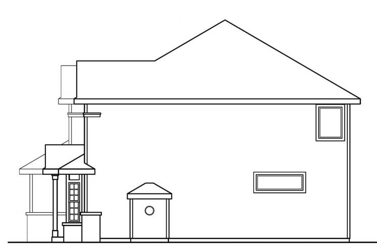 Classic House Plan - Masterson 17366 - Right Exterior