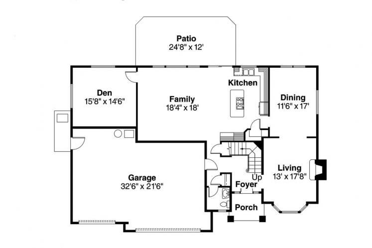 Traditional House Plan - Masterson 17366 - 1st Floor Plan