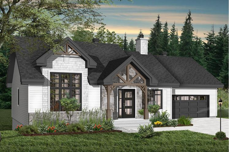 Craftsman House Plan - Barrington 2 17436 - Front Exterior