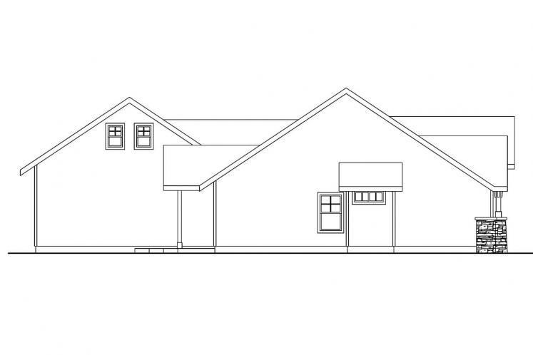Ranch House Plan - Inglewood 17644 - Left Exterior