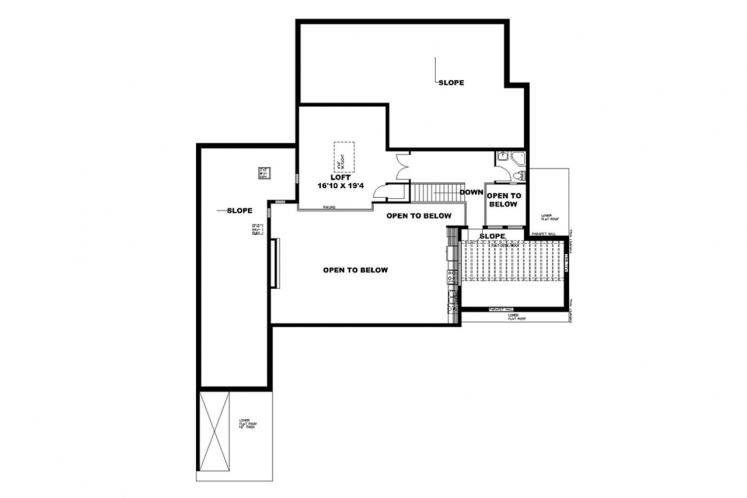 Contemporary House Plan -  17671 - 2nd Floor Plan