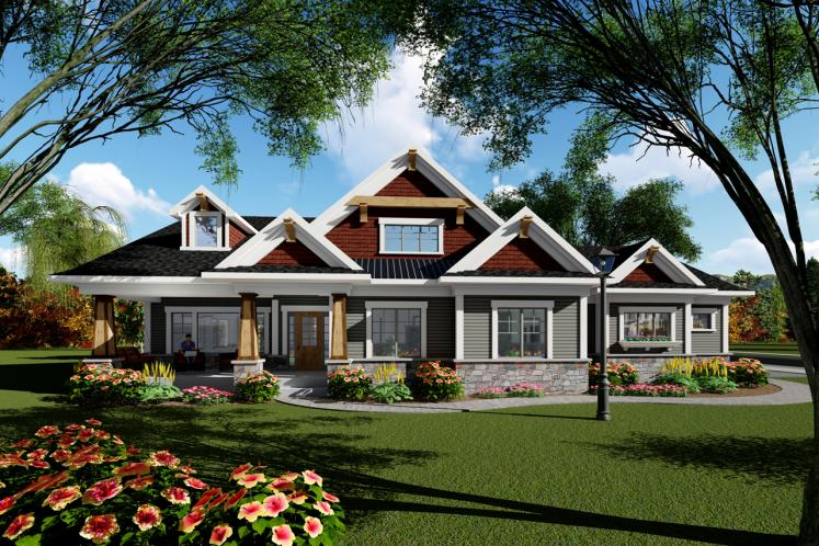 Craftsman House Plan -  17702 - Front Exterior
