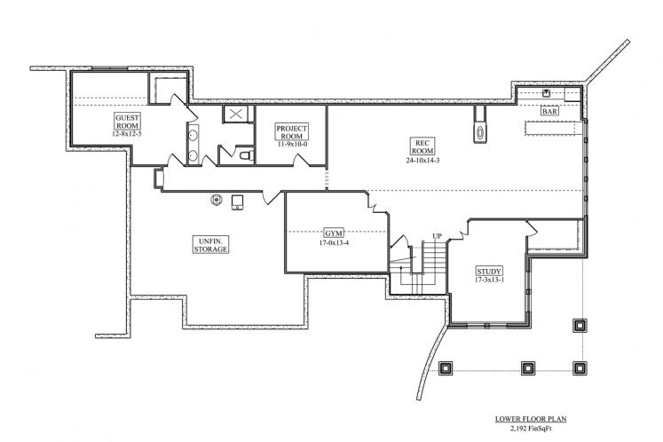 Prairie House Plan - Wills Point 17863 - Basement Floor Plan