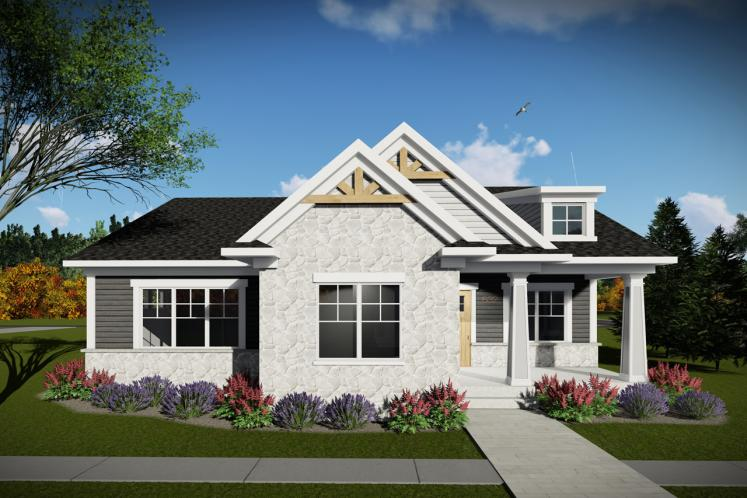 Craftsman House Plan -  17908 - Front Exterior