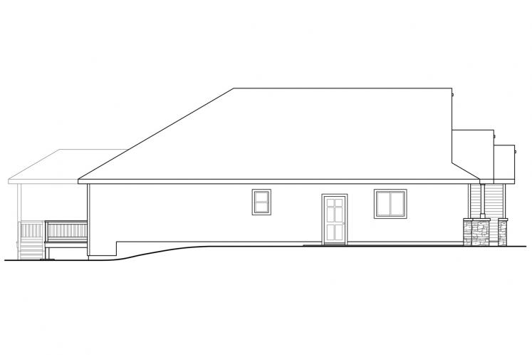 Ranch House Plan - Alderbrook 18014 - Left Exterior