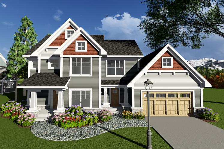 Craftsman House Plan -  18035 - Front Exterior
