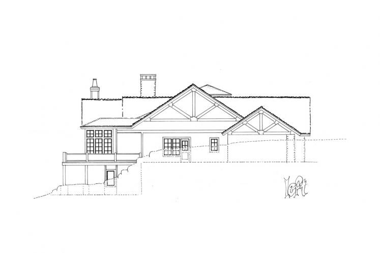 Traditional House Plan - Stonebridge 18043 - Left Exterior