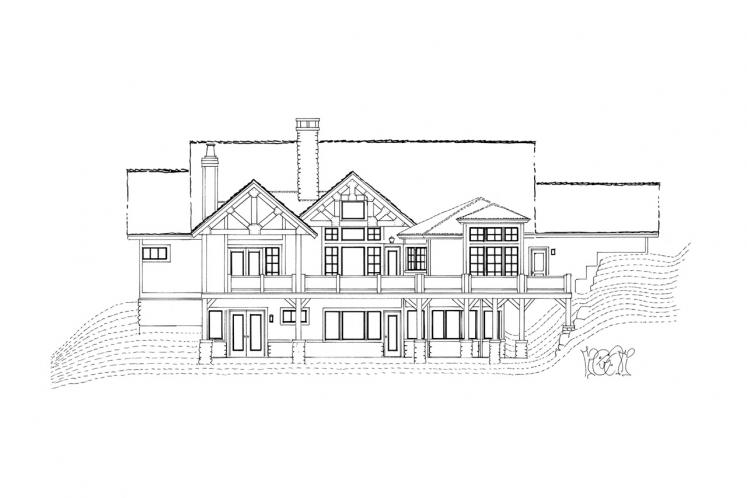 European House Plan - Stonebridge 18043 - Rear Exterior