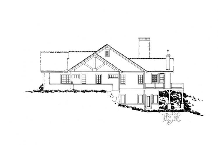 Craftsman House Plan - Stonebridge 18043 - Right Exterior