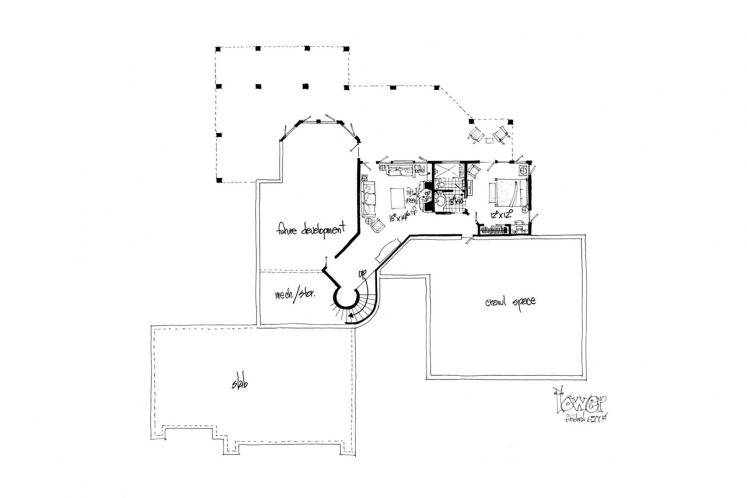 Traditional House Plan - Stonebridge 18043 - Basement Floor Plan