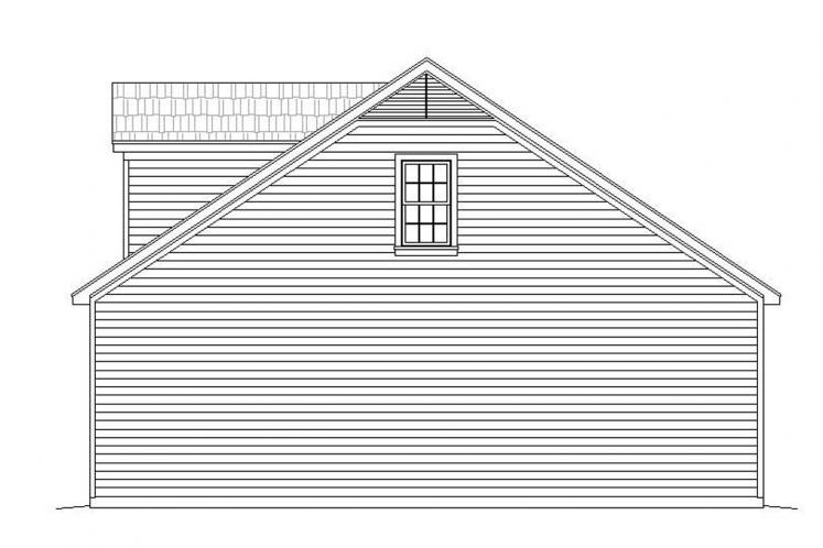 Traditional Garage Plan - Crescent 18050 - Right Exterior