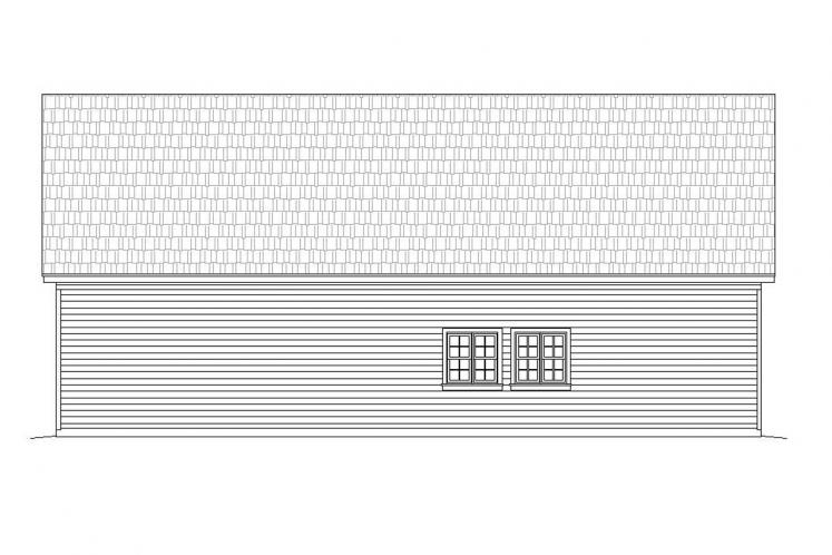 Traditional Garage Plan - Crescent 18050 - Rear Exterior