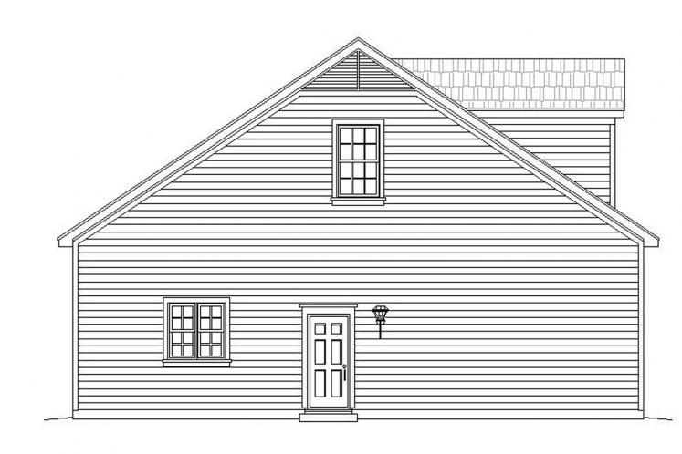 Country Garage Plan - Crescent 18050 - Left Exterior
