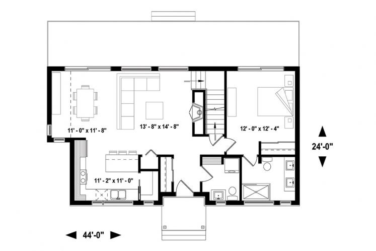 Cottage House Plan - Magnolia House 2 18080 - 1st Floor Plan