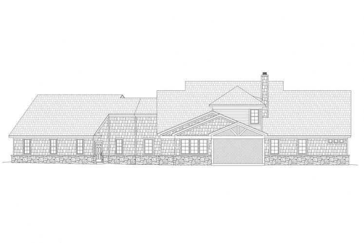 Country House Plan - Chadwick 18092 - Rear Exterior