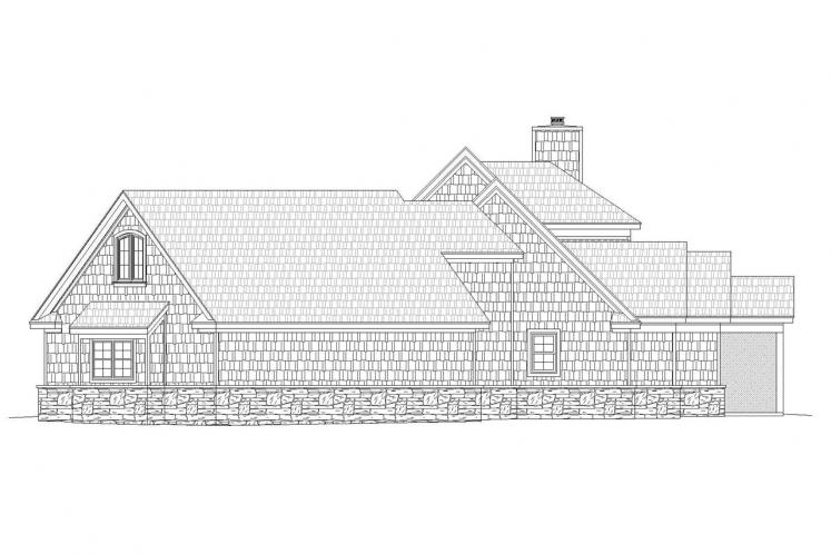 Country House Plan - Chadwick 18092 - Right Exterior