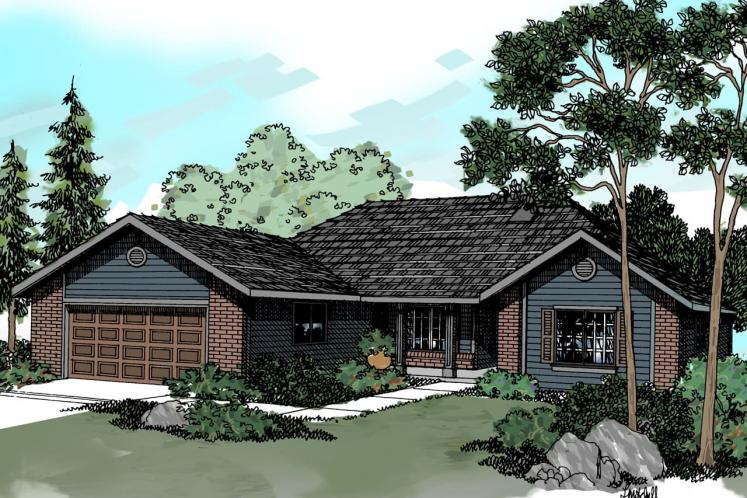 Traditional House Plan - Eldon 18103 - Front Exterior