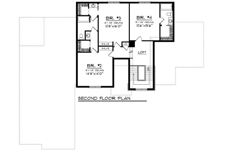 Traditional House Plan -  18146 - 2nd Floor Plan