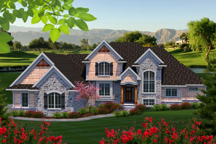 Classic House Plan -  18146 - Front Exterior
