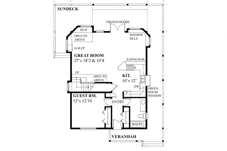 Contemporary House Plan -  18156 - 1st Floor Plan