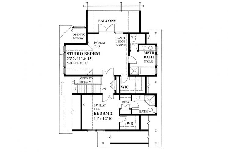 Cottage House Plan -  18156 - 2nd Floor Plan