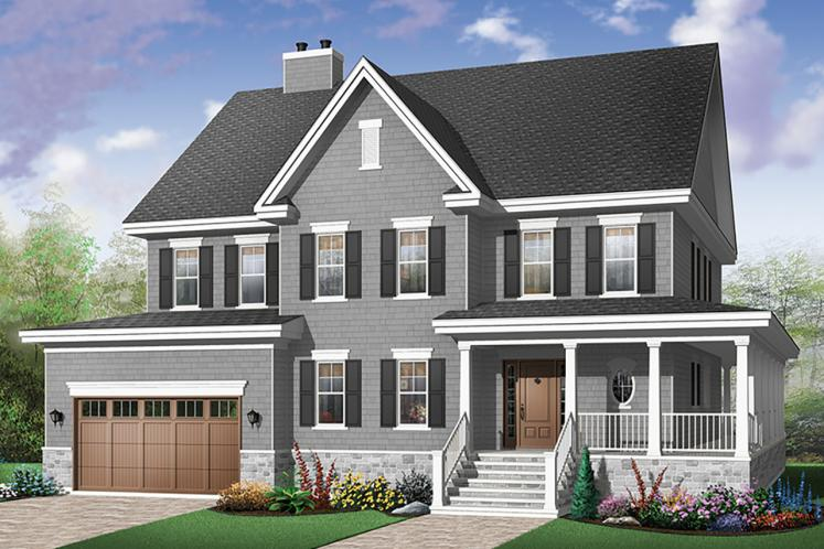 Country House Plan - La Fayette 18177 - Front Exterior