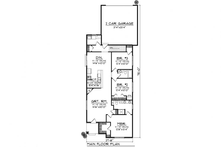 Cottage House Plan -  18217 - 1st Floor Plan