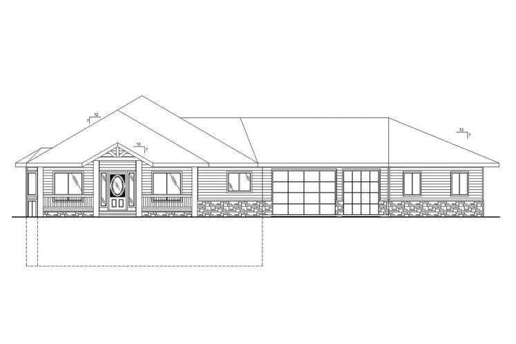 Ranch House Plan -  18265 - Front Exterior