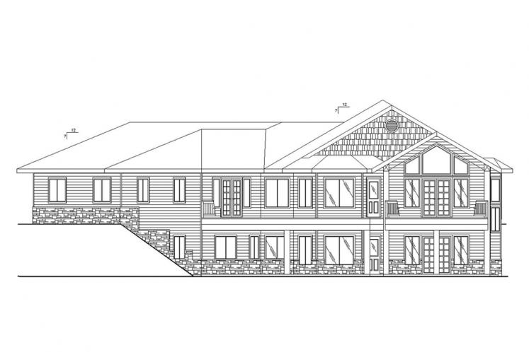 Traditional House Plan -  18265 - Rear Exterior