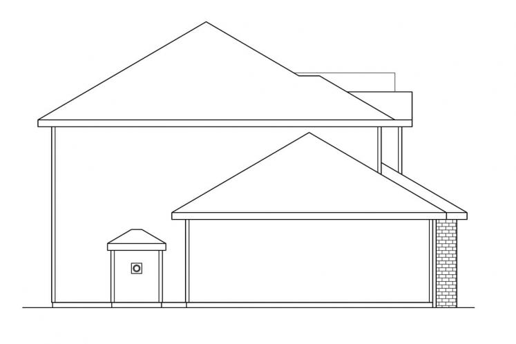 Country House Plan - Westhaven 18316 - Left Exterior