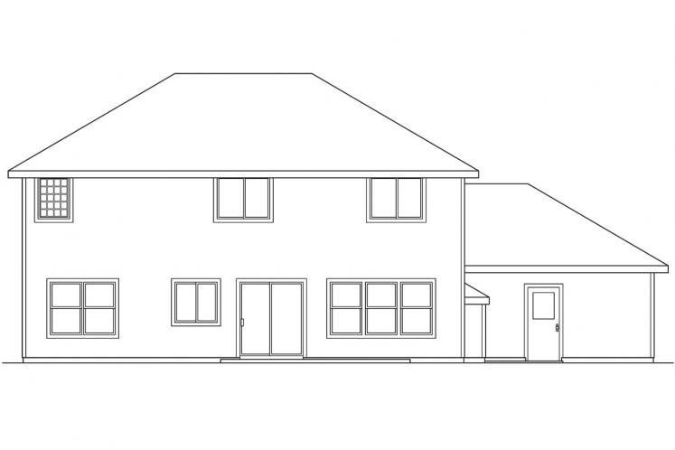 Contemporary House Plan - Westhaven 18316 - Rear Exterior
